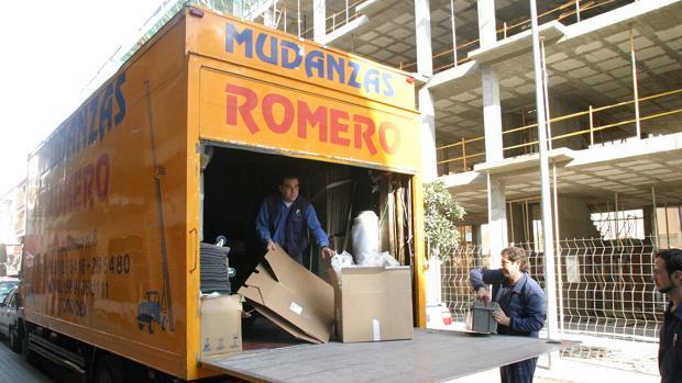 Una mudanza realizada por la empresa Romero
