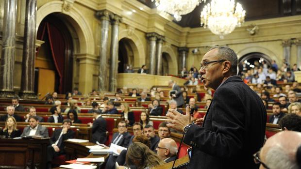 Joan Coscubiela, en un pleno en el «Parlament»