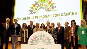 Asistentes a la inauguración del I Congreso de personas con cáncer y familiares de Castilla y León