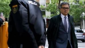 Pujol Ferrusola a su llegada a la Audiencia Nacional, donde declaró ante el juez