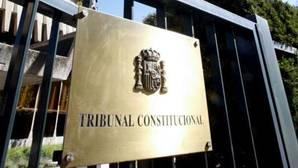 Entrada al Tribunal Constitucional en Madrid