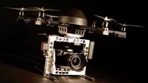 Imagen de un dron difundido en un vídeo de la Universitat Politècnica de València