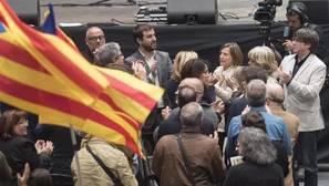 Acto de la ANC este sábado en Cataluña