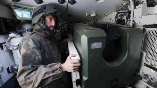 Interior del carro de combate