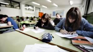 Estudiantes en un instituto de Secundaria de Valencia