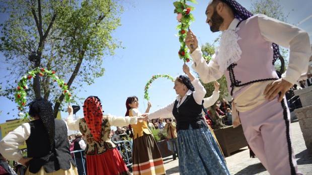 Recreaciones históricas, ayer, en el centro de Móstoles