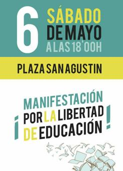 Imagen del cartel de la manifestación convocada el próximo sábado en Valencia