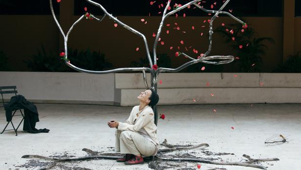 Claire Ducreux en «Silencis», su espectáculo en el TAC