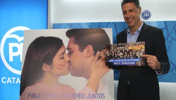Xavier García Albiol, durante la presentación de la campaña del PP catalán, hoy