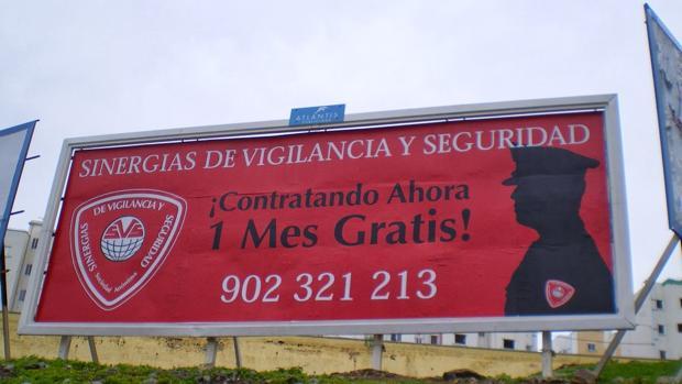 Un anuncio de la empresa de seguridad en Las Palmas capital