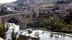 El río Tajo, a su paso por Toledo