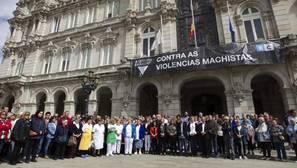 Concetración en recuerdo del pequeño asesinado, ayer en La Coruña