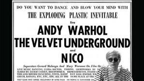 Cartel que anunciaba una de las actuaciones de la Velvet Undergound en The Factory
