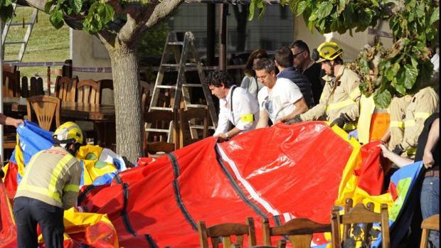 Fotografía del suceso ocurrido recientemente en el municipio gerundense de Caldes de Malavella