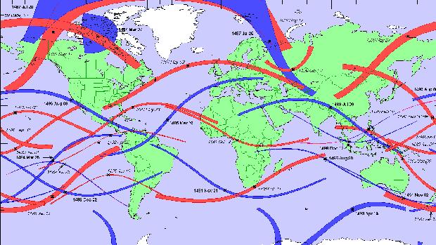 Eclipses entre 1481 y 1500