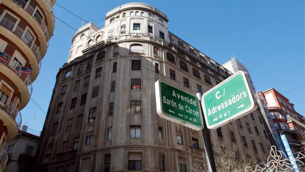 Imagen de archivo de la avenida Barón de Cárcer de Valencia