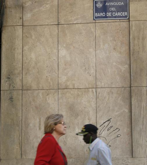 Imagen de la avenida Barón de Cárcer tomada este lunes