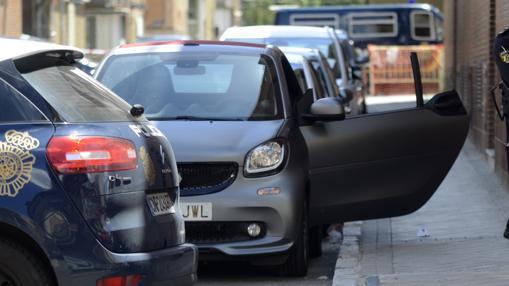 El coche del «Niño Sáez» donde recibió los disparos