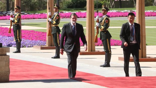 Mariano Rajoy, a su llegada al centro internacional de conferencias Yanqi Lake, en Pekín