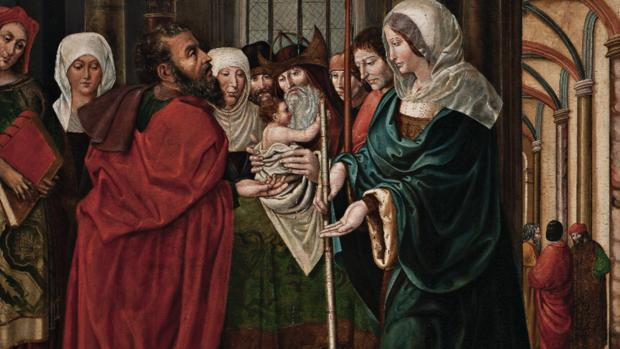 Detalle del óleo sobre tabla, de principios del siglo XVI, que será subastado próximamente