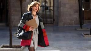 La consejera de Gobernación, Meritxell Borràs, a su llegada a una de la Generalitat el martes pasado