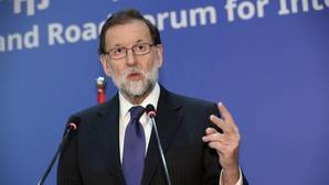 Mariano Rajoy durante la rueda de prensa ofrecida tras la reunión del foro de la Nueva Ruta de la Seda