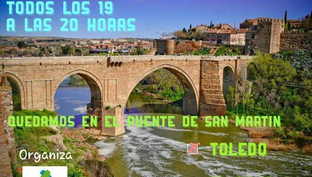 Convocan este viernes a los toledanos a una concentración por el Tajo en el Puente de San Martín