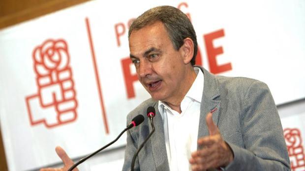 José Luis Rodríguez Zapatero durante su acto en Vigo