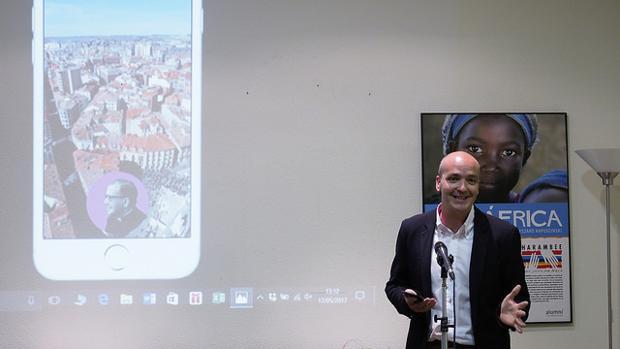 Luis Fernández Vaciero, durante la presentación
