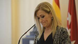 Cristina Cifuentes, este martes, en declaraciones a los medios