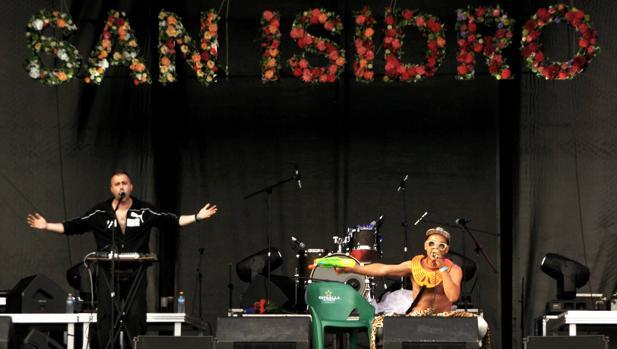 El grupo Émbolo, durante su actuación del sábado en San Isidro