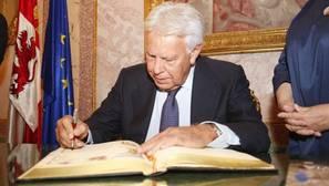 El expresidente del Gobierno Felipe González, ayer en Segovia