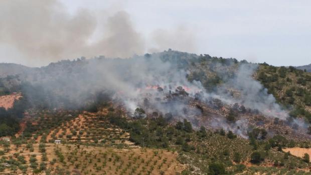 El incendio de Liétor, Albacete, en la Sierra del Segura