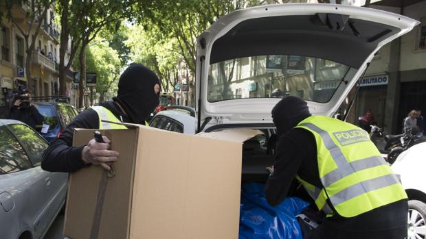 Un registro en una operación contra el yihadismo en Barcelona