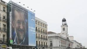 Cartel del PP en Madrid durante la campaña para las elecciones de 2008