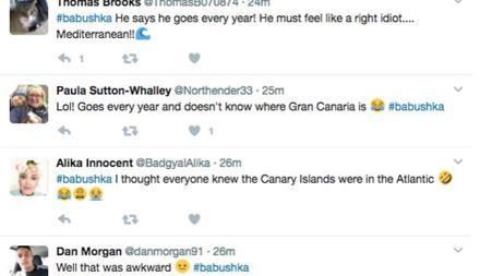 Indignación en las redes sociales sobre la ubicación de Canarias
