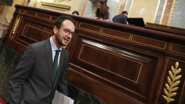 El portavoz parlamentario socialista, Antonio Hernando