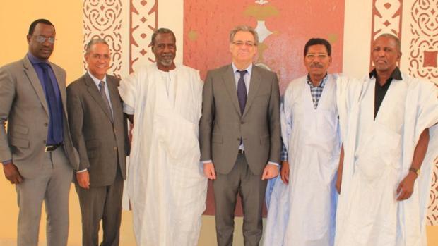 El embajador Torres Dulce en una visita este mes de mayo al Senado de Mauritania