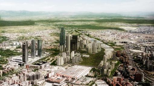 Infografía del proyecto para el desarrollo de Chamartín
