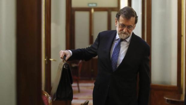 Rajoy, en el Congreso de los Diputados la semana pasada