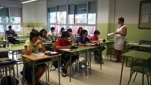 Alumnos de secundaria en una escuela de Barcelona