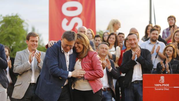 Imagen de Díaz y Puig tomada este jueves en Valencia