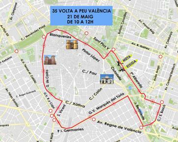 Consulta el dispositiu de tràfic per la Volta de Peu de València de este diumenge