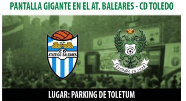 Instalarán una pantalla gigante en Toletvm para seguir el domingo el Baleares-Toledo