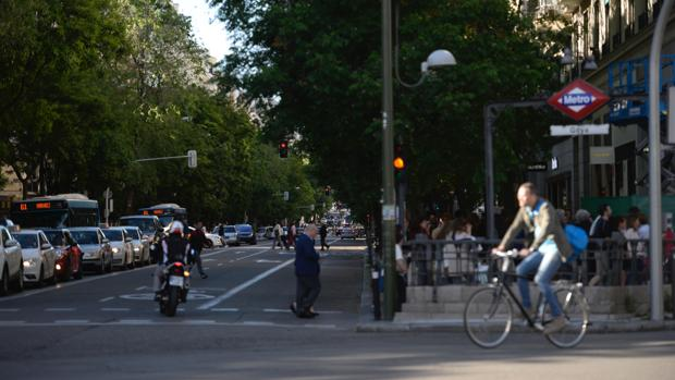 Cruce de la calle del Conde de Peñalver con la de Goya