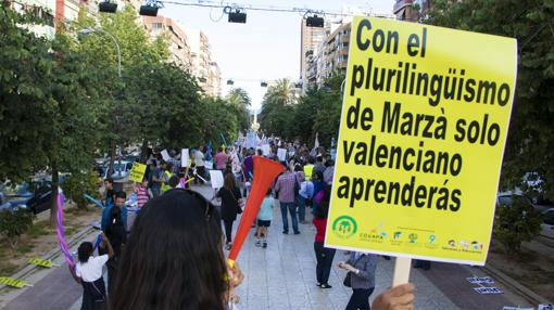 Imagen de la manifestación de este viernes en Alicante