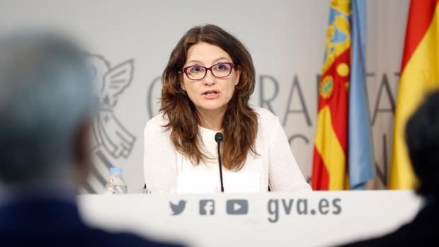 Mónica Oltra en el pleno del Consell celebrado este viernes