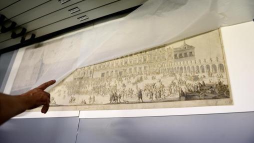 Grabado de Filippo Pallota del Alcázar Real