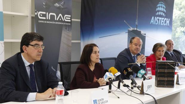 La directora de la Axencia Galega de Innovación, Patricia Argerey, ayer durante la presentación del proyecto