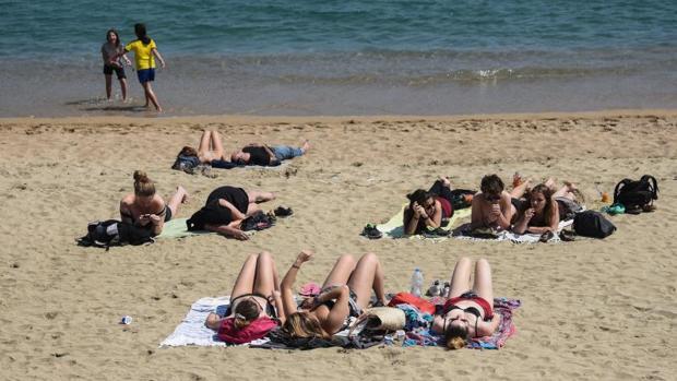 Una playa en Barcelona